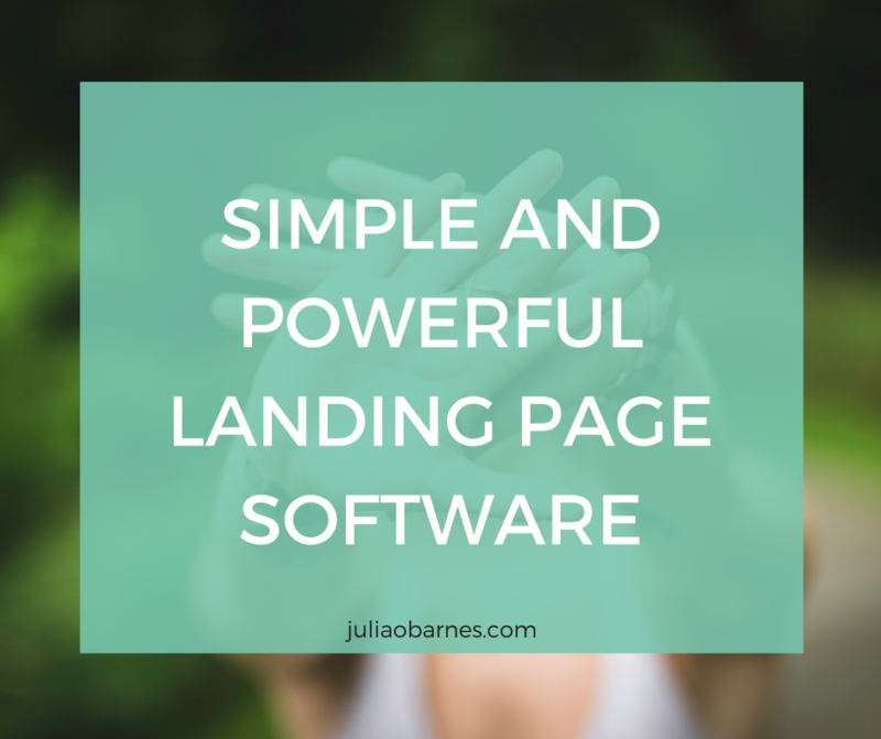 create powerful landing pages